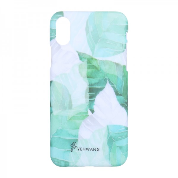 Phone Case iPhone X Green Leaves